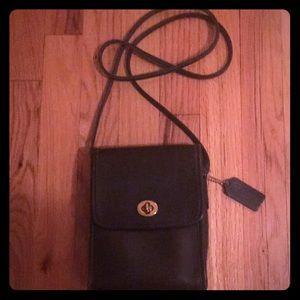 Coach criss cross black vintage handbag